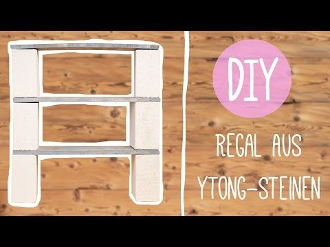 ytong k che diy mit nina cooles regal aus ytong steinen oder backsteinen wohnen. Black Bedroom Furniture Sets. Home Design Ideas