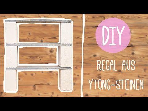 Lowboard selber bauen ytong  Ytong Küche : DIY mit Nina: Cooles Regal aus Ytong-Steinen oder ...
