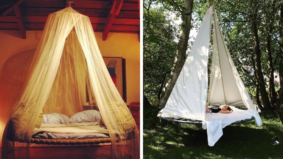 A Diy Trampoline Swing Bed Turns Your Backyard Into A Luxury
