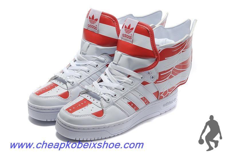 Comprar Adidas x Jeremy Scott Wings al usa flag zapatos rojo al Wings por mayor db46ee
