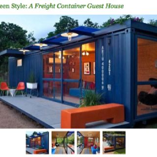 Green Shipping Container Guest House Sweet Container House Design Container Architecture Building A Container Home