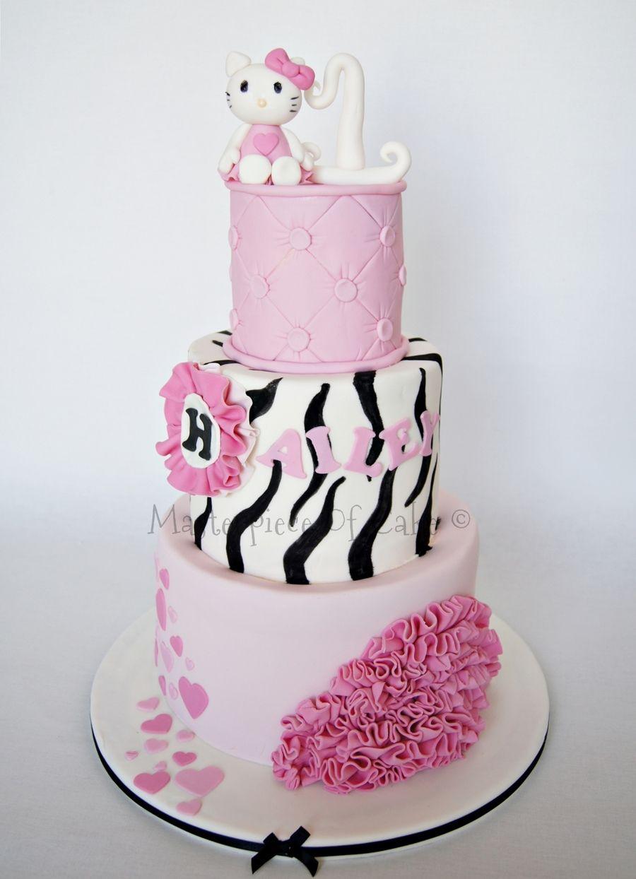 Hello Kitty 1st Birthday Cake All Hello Kitty Cakes And
