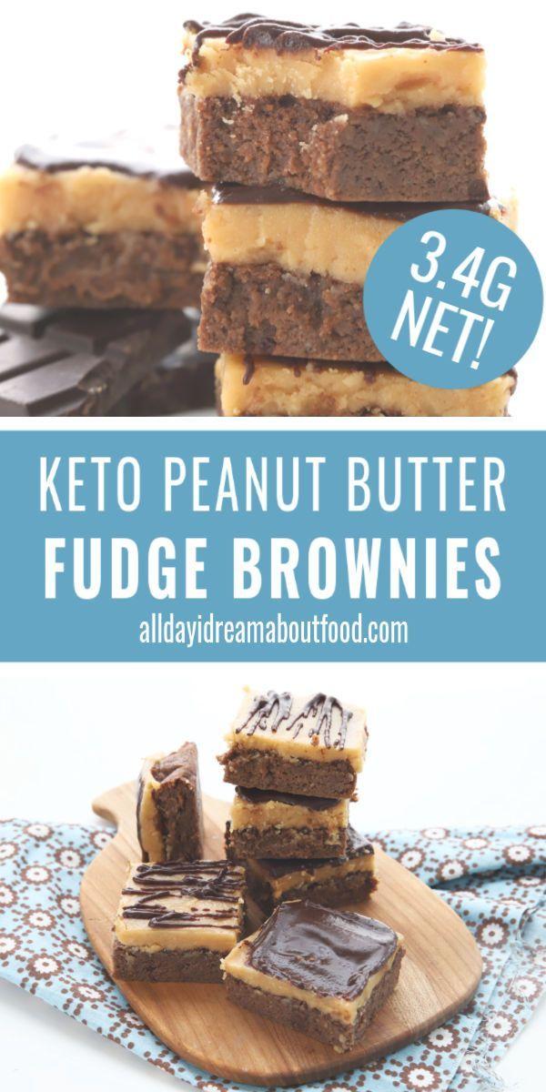 Keto Peanut Butter Fudge Brownies