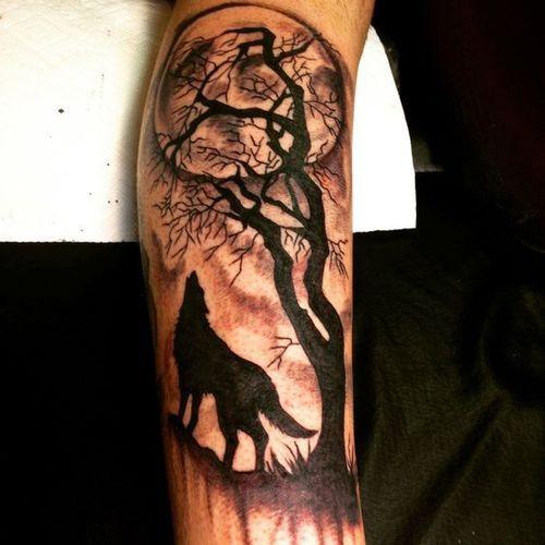 Tatuajes De Lobo Solitario