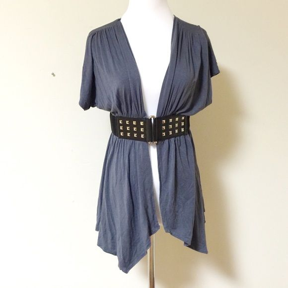 Pretty Good-gray short sleeve cardigan-size L Pretty Good-gray ...