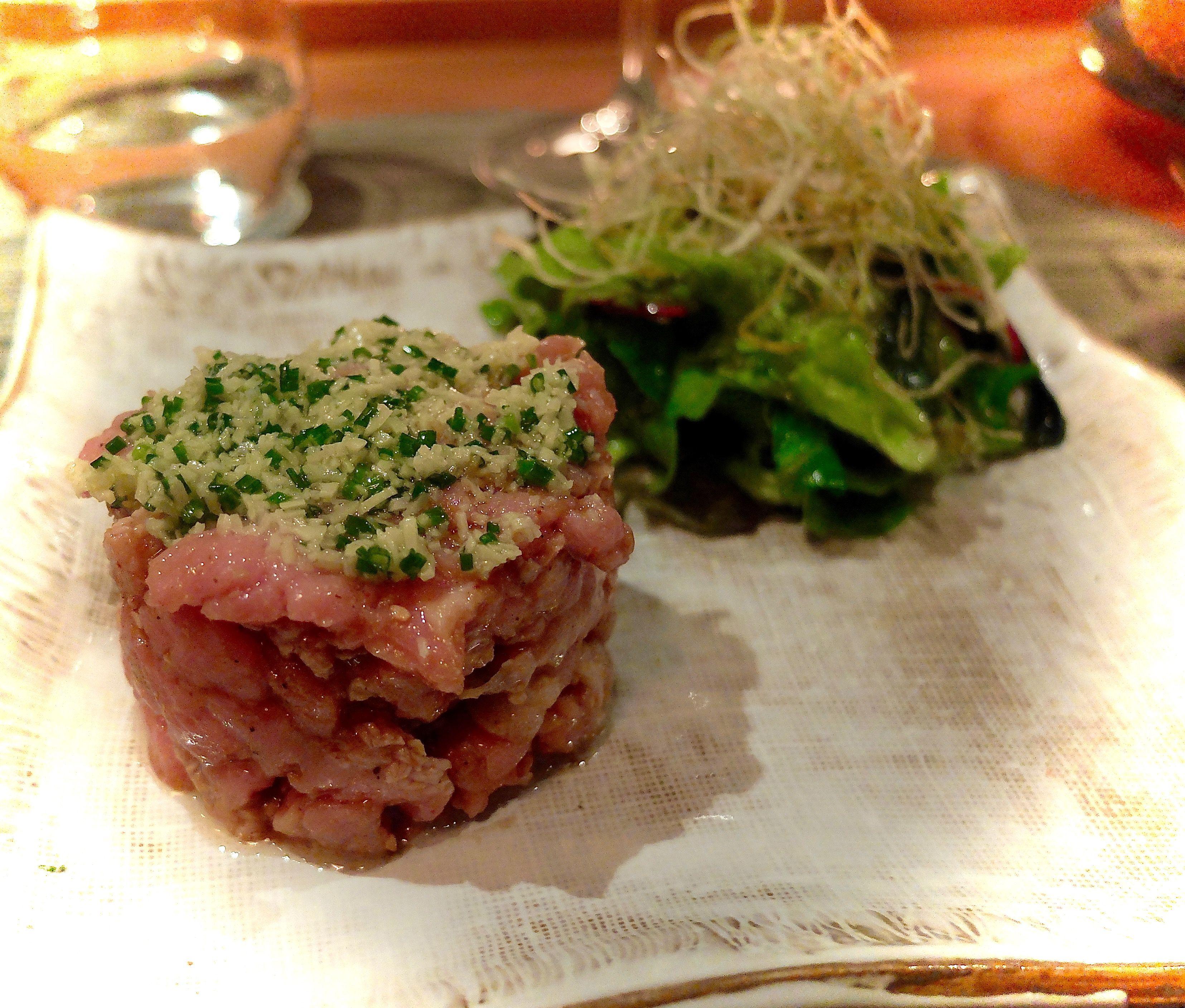 Japanese fusion - Tartare de veau au gingembre façon namerô - www.iloli-restaurant.com
