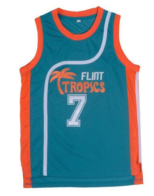 Retro Basketball Jersey Movie Semi Pro Flint Tropics Jackie Moon 33  Coffee  Black 7  Ed Monix 11  Throwback Jerseys All Stitched 1a855079e