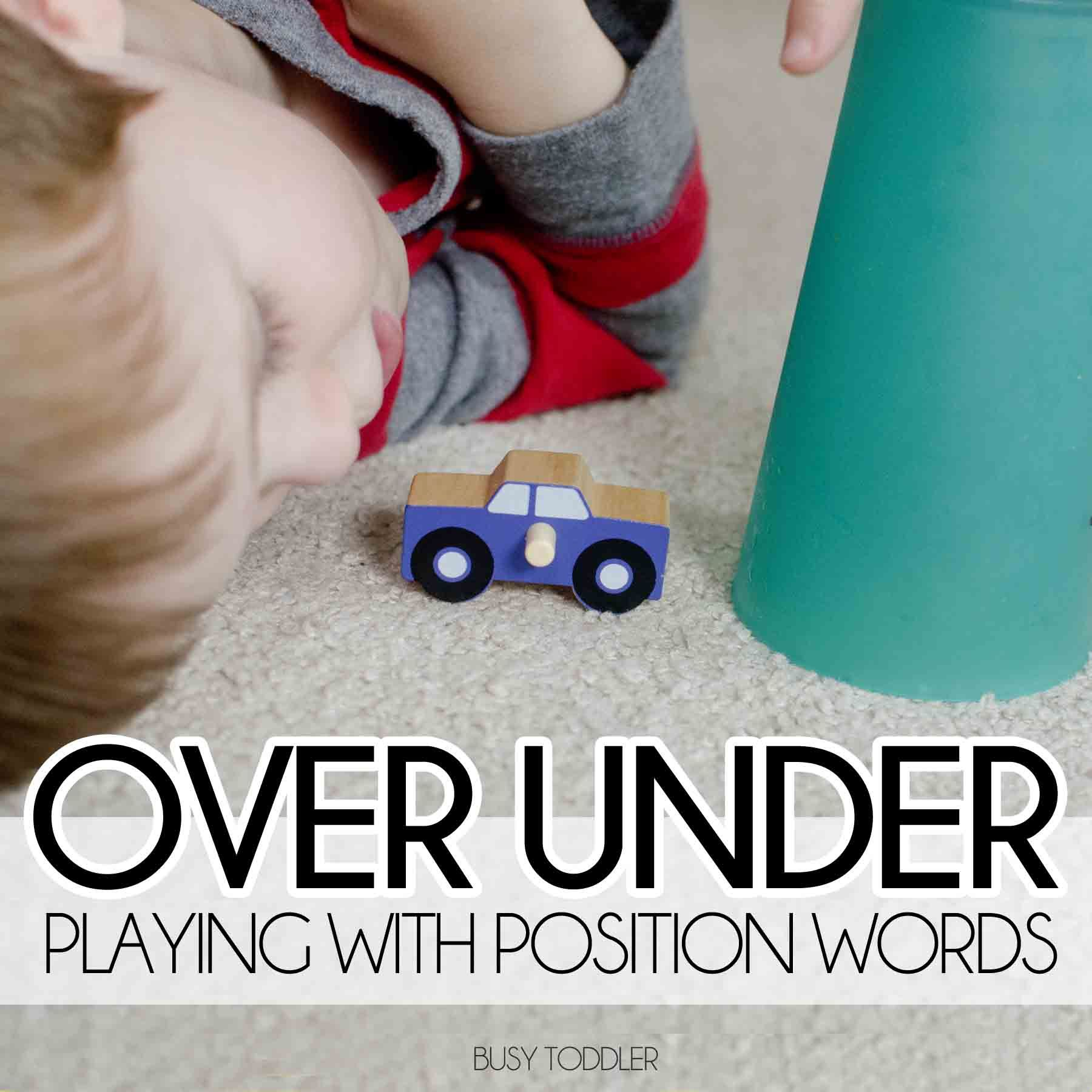 Position Words The Over Under Game