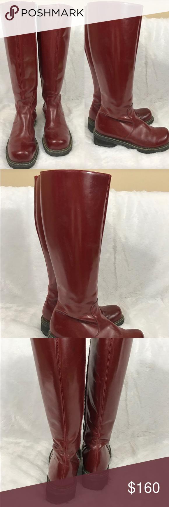 John Fluevog red burgundy boots Great condition! Super high quality and durable john fluevog Shoes