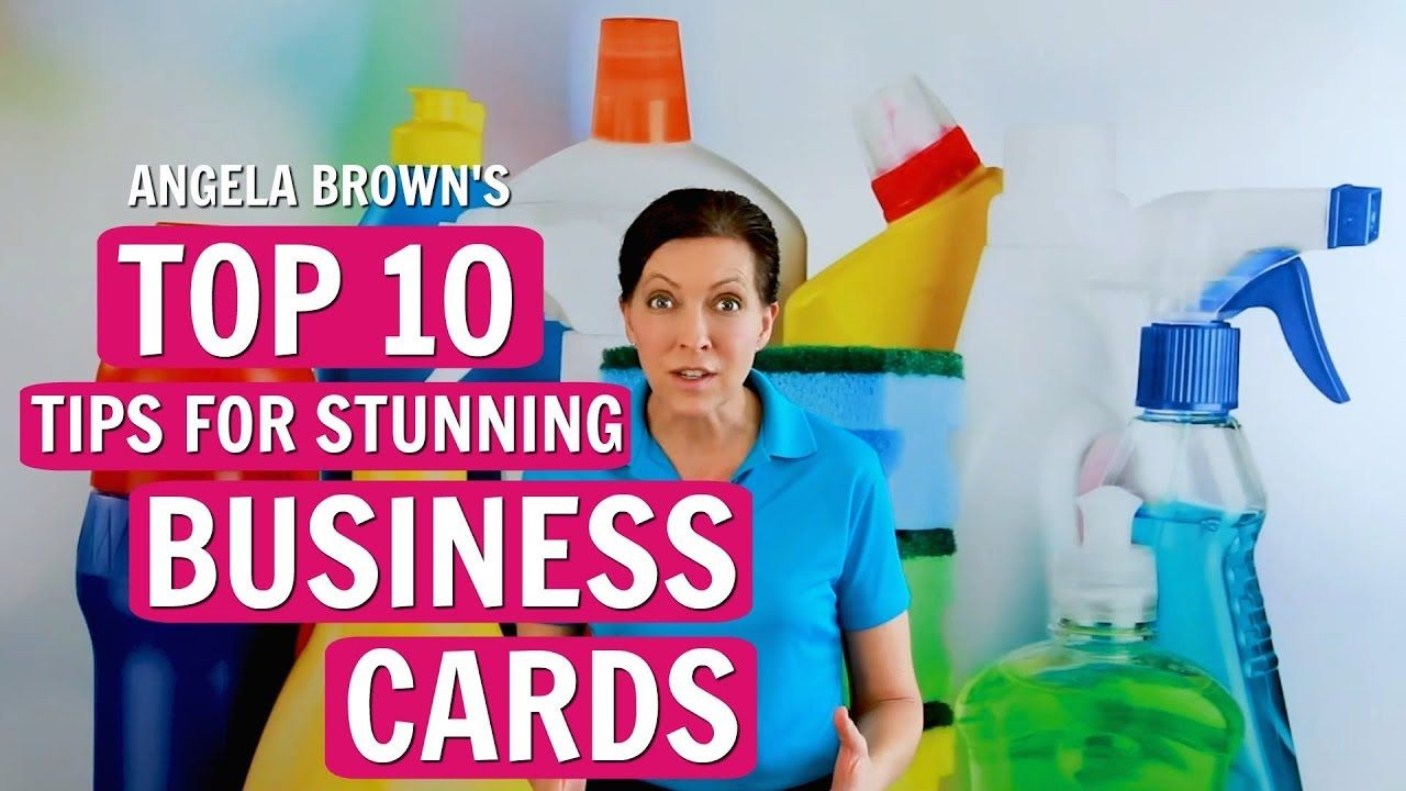 Angela browns top 10 business card tips for house