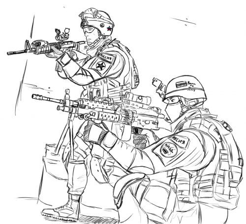 Military Coloring Pages With Images Soldier Drawing Military