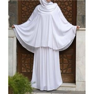 Rahima Prayer Set  Our popular Rahima Prayer Set is now available in this lighter regular weave rayon fabric. It features a super-comfortable pocketed prayer skirt and a loose pull over head piece with a long wrap scarf attached at the back of the neck. Simply slip on head piece, pull the scarf fabric over the top of the head, and then wrap it like you would for any regular wrap hijab. One size fits all.
