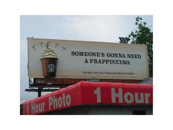 Starbucks Billboard Advanced Marketing Potential Product