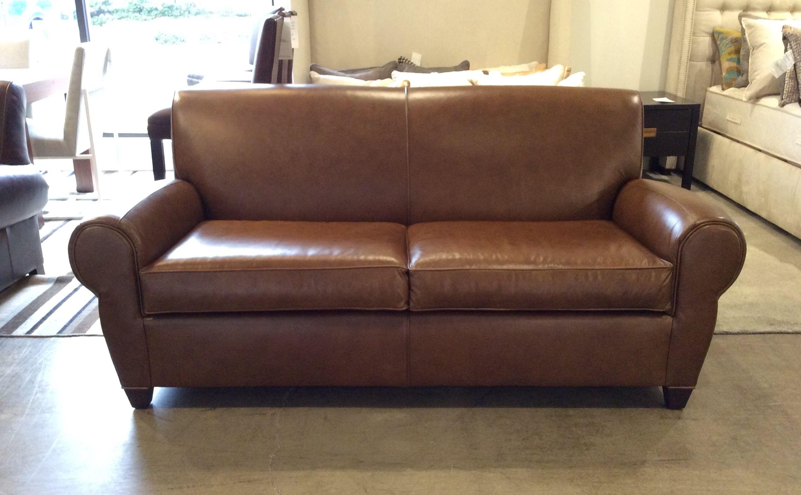 Philippe Leather Sofa In Topeka~Walnut.