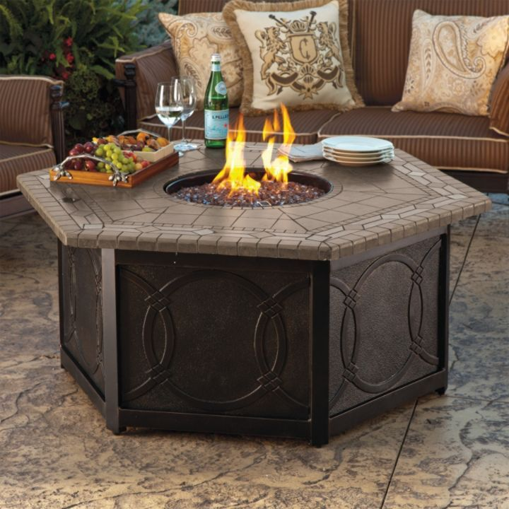 Provenca Custom Gas Fire Table   Frontgate Just Think Of All The Fall  Evenings You Can · Firepit IdeasPatio ...