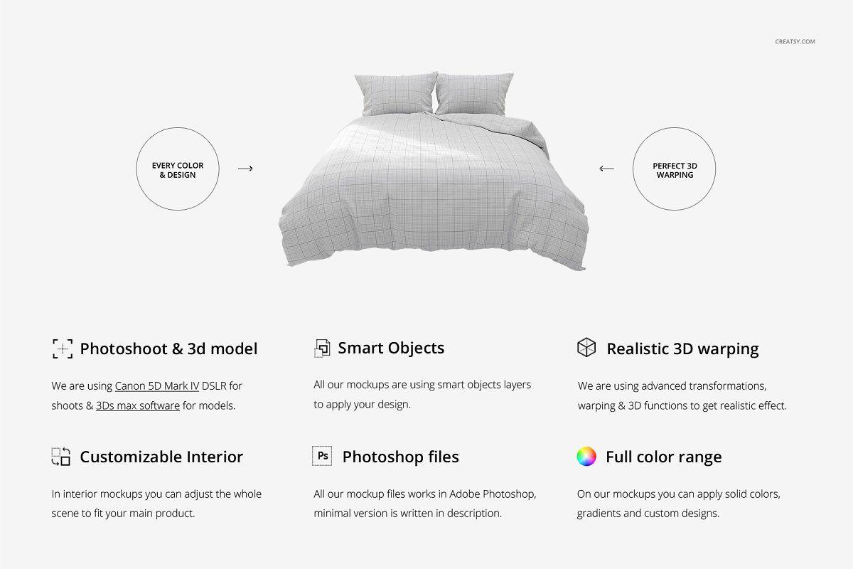 Luxury Bedroom Bedding Mockup Set Luxurious Bedrooms Bedroom Bed Wooden Textures