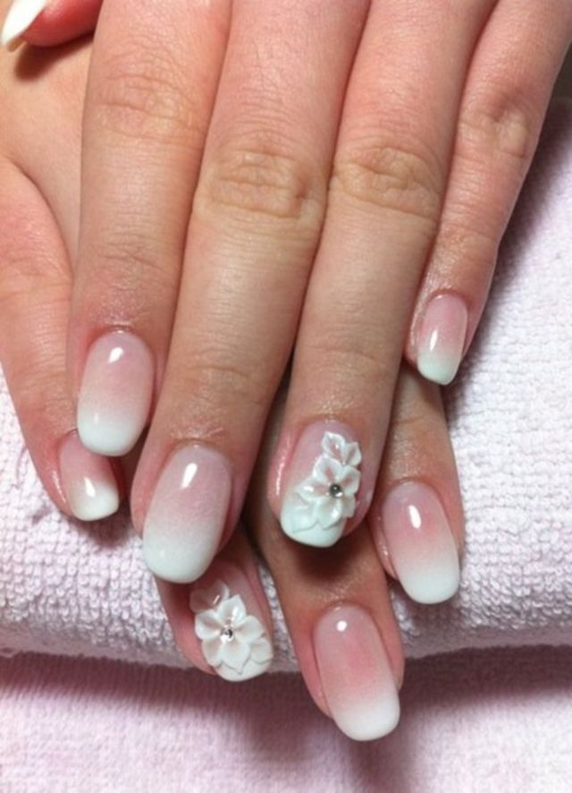 21 Beautiful Bridal Nail Art Design Ideas Nail Art Pinterest