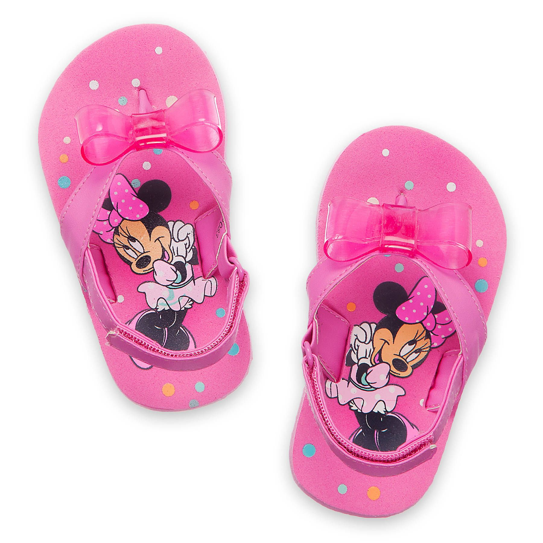 Minnie mouse flip flops pink baby shoes newborn