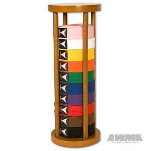 For My Karate Kids Round Stacker Solid Wood Cylinder Belt Display Rack 10 Level With Images Martial Arts Belt Display Belt Display Martial Arts Belts