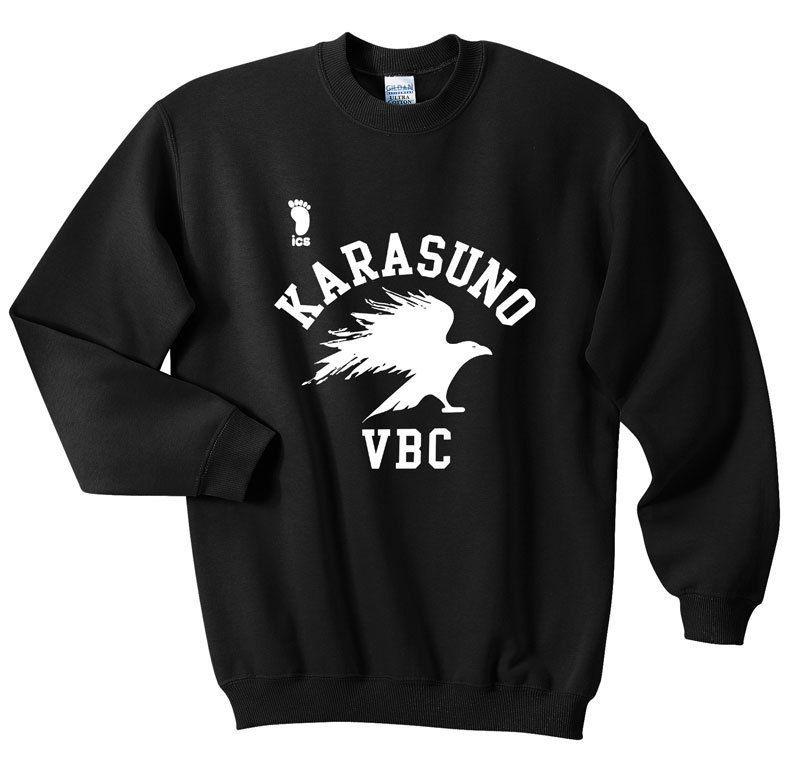 Karasuno Volleyball Club Haikyuu Ics Sweatshirts Black Size S M L Xl Anime Sweatshirt Mens Sweatshirts Hoodie Anime Shirt