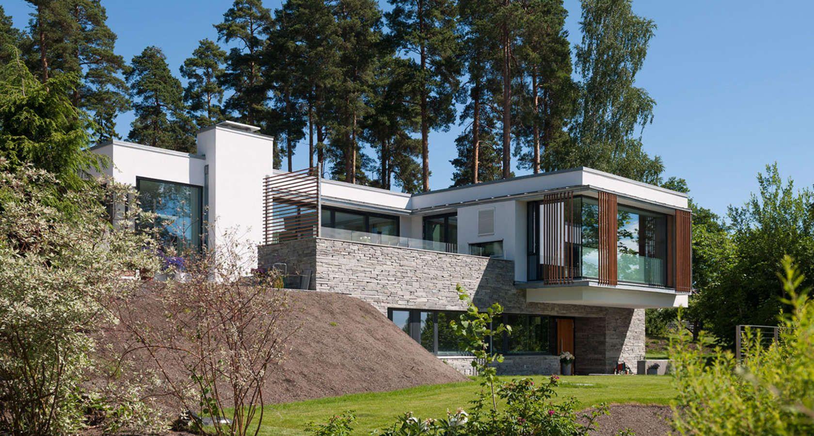 Magnifique maison contemporaine en pierre, béton et ...
