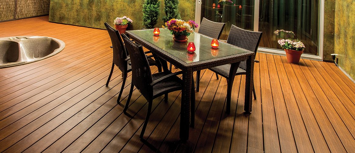 Home deck boards installation environmentally friendly
