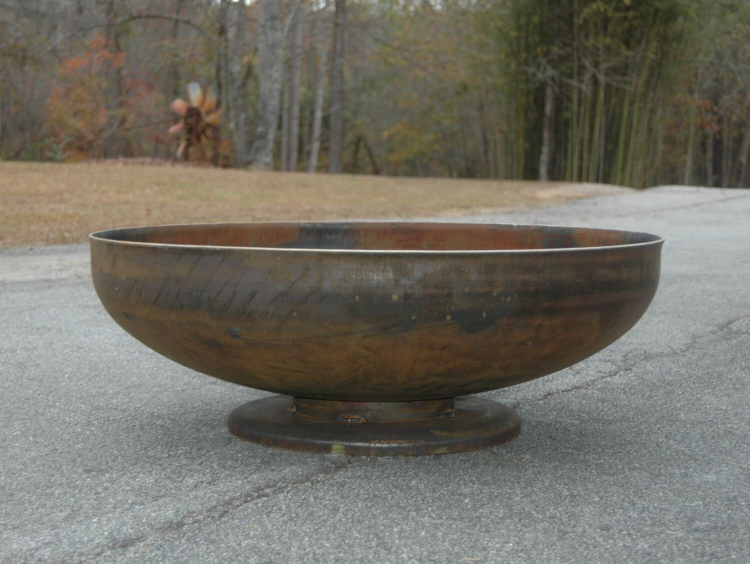 Fire Pit 42 inch Pedestal Base - Industrial Duty - Unique Base - Backyard Fire Pits - Durable Fire Pit - Heavy Gauge Metal Fire Pits Atlanta by Firepitsatlanta on Etsy https://www.etsy.com/listing/245502348/fire-pit-42-inch-pedestal-base