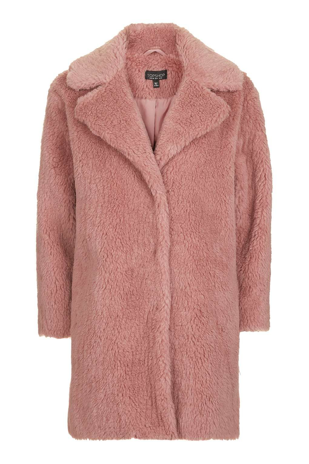 Pink Casual Faux Fur Coat | Clothes  | Pinterest | Fur coat, Fur ...