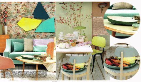 ELLE DECOR - Fuente Verde #Ceramica #Deco #Home | Silvia Valentin | CoolMaison