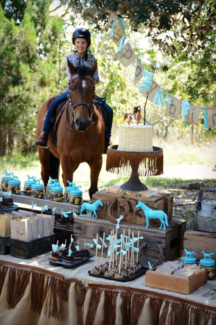 Rustic Horse Birthday Party | Horse theme birthday party, Horse ...