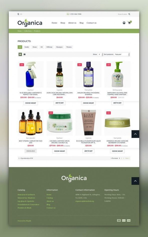 Cosmetics Store Responsive Shopify Theme Ecommerce Templates - Shopify store templates