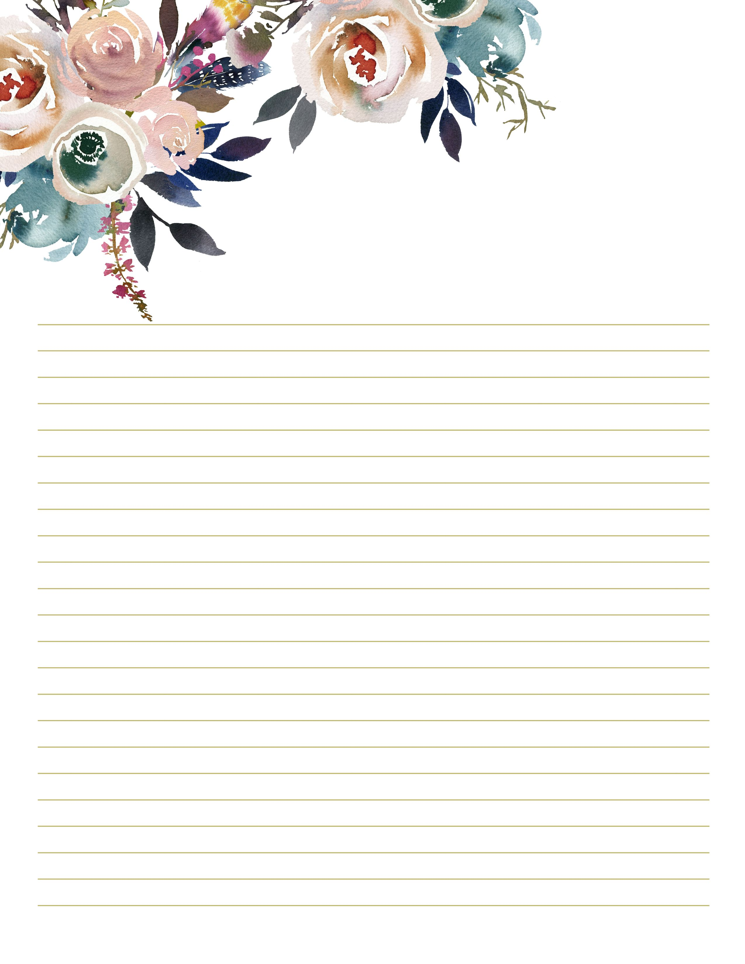Floral Stationary For Wedding Writing Paper Printables Etsy Writing Paper Printable Stationery Writing Paper Printable Free Printable Stationery