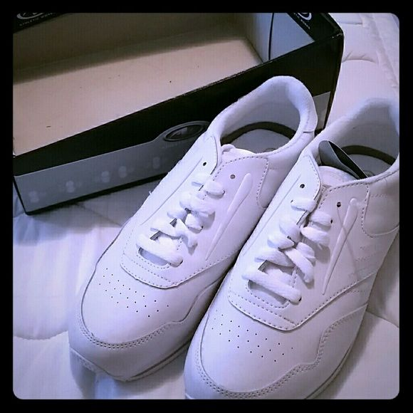 NWT NIB Athletic Works White Sneakers