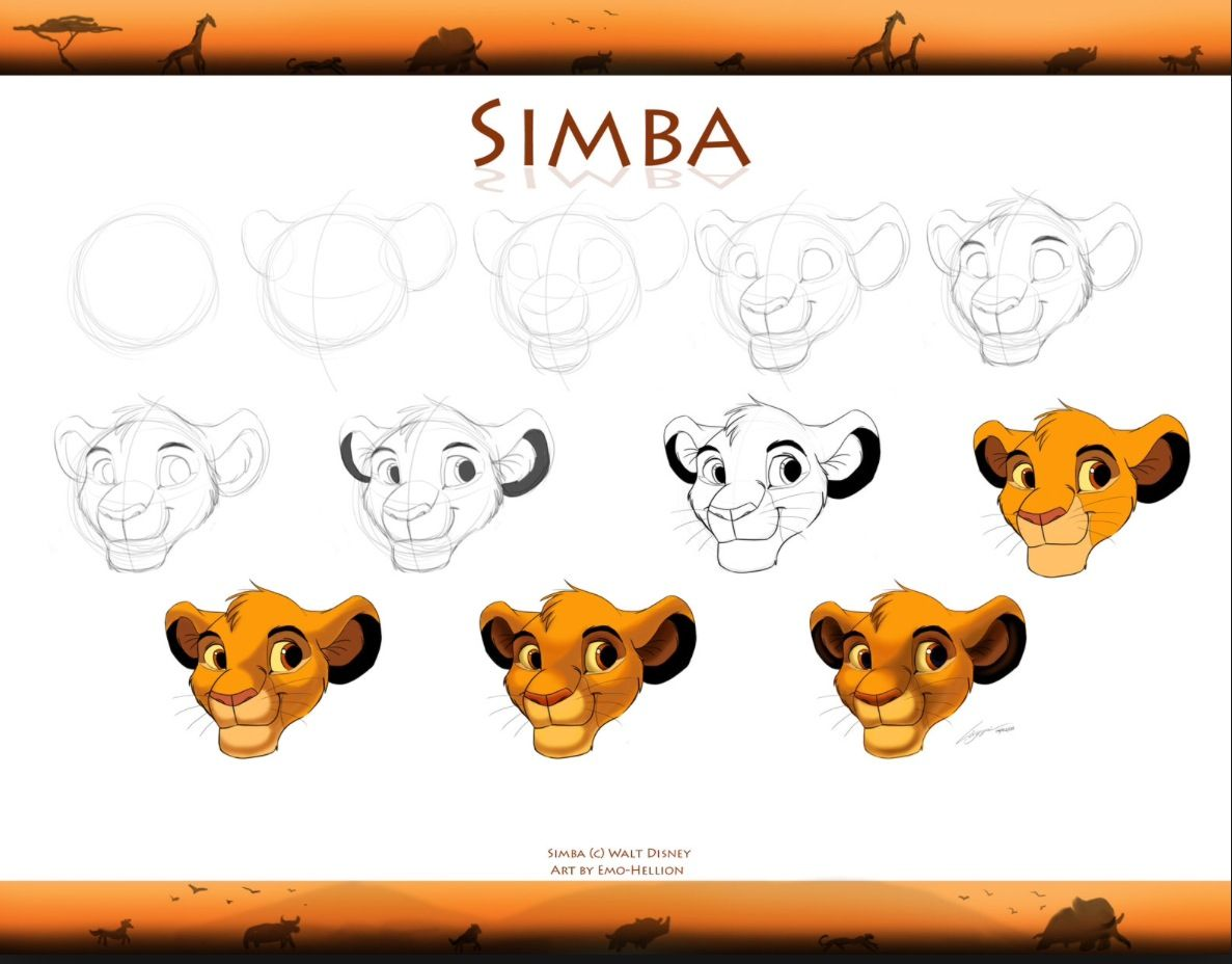 how to draw and paint simba google search how to draw