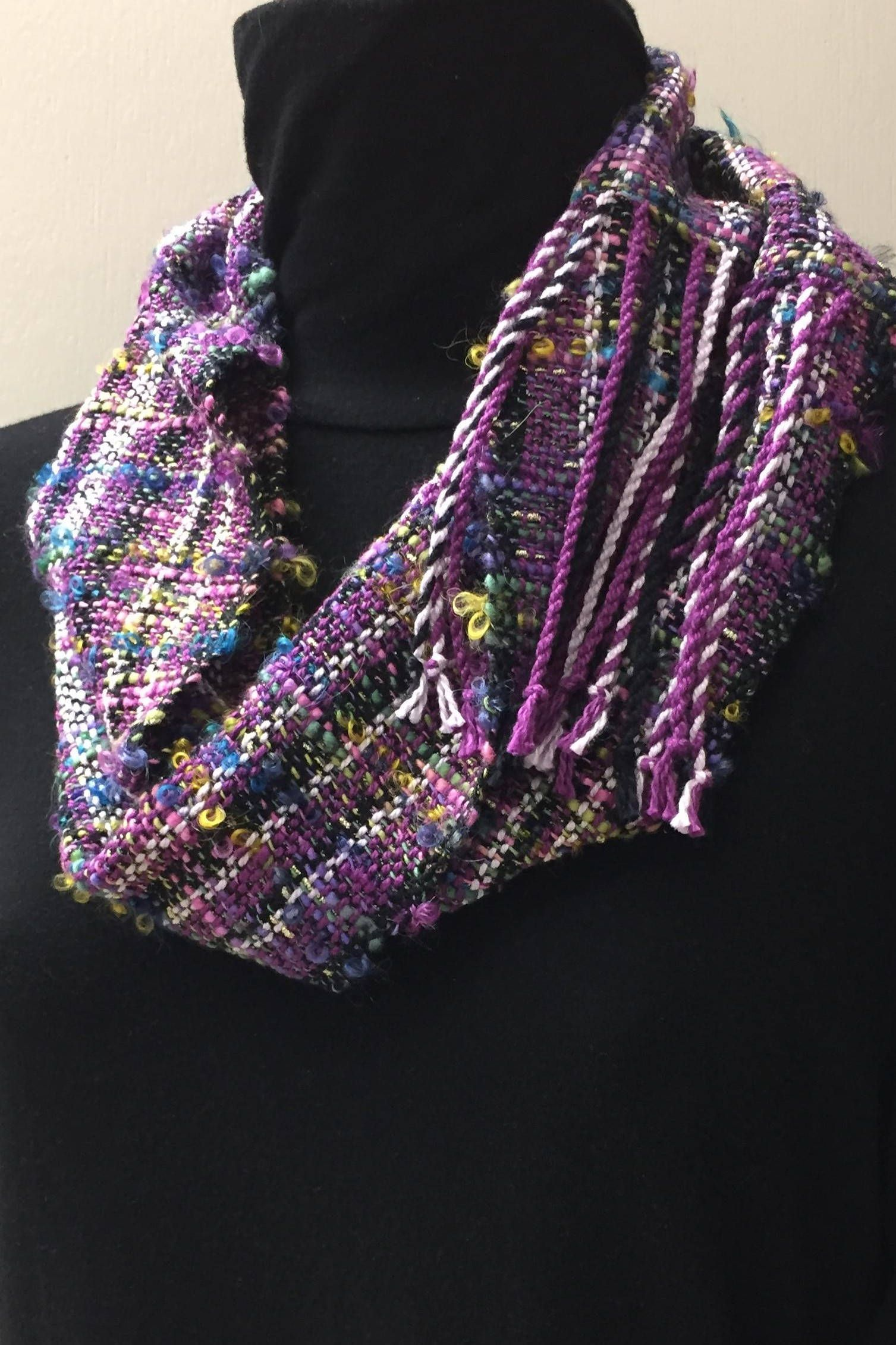 The Pantone Color of the Year is ultra violet. This Mobius cowl can ...