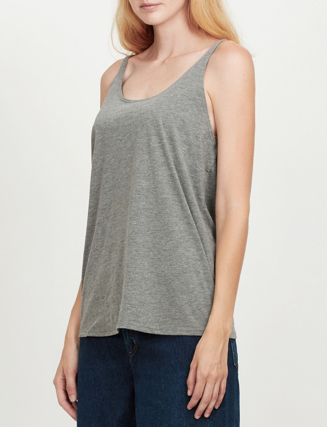 39ea5db0d7a3ba Your favorite tank top just got better! This basic scoop neck loose fit  tank top