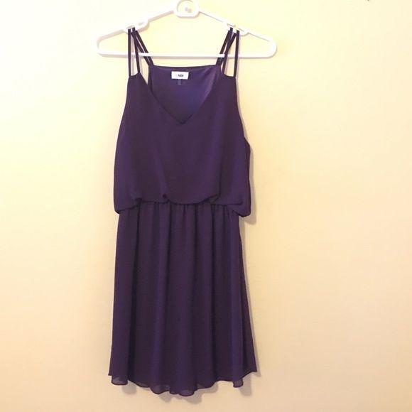 NWOT Plum Tobi Dress NWOT beautiful purple with cinched waist Tobi Dresses Mini