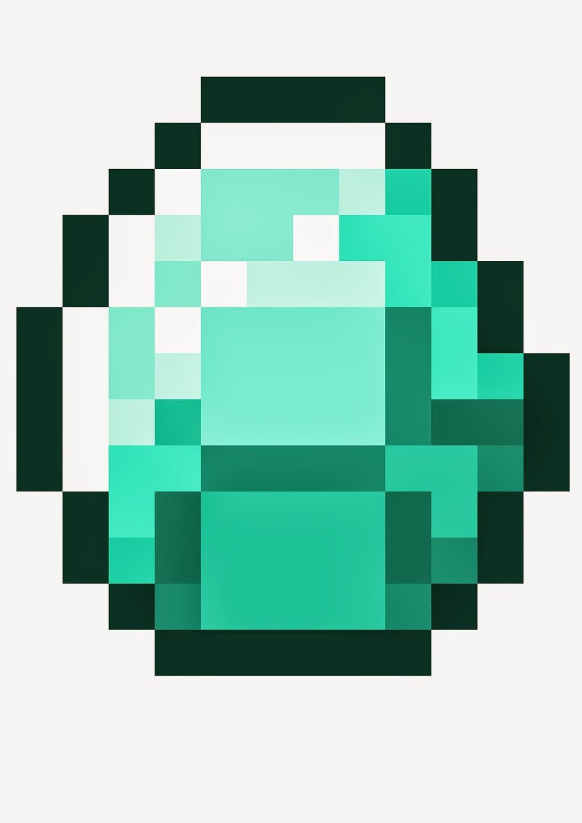 Minecraft Diamond Template mousepad de minecraft,...