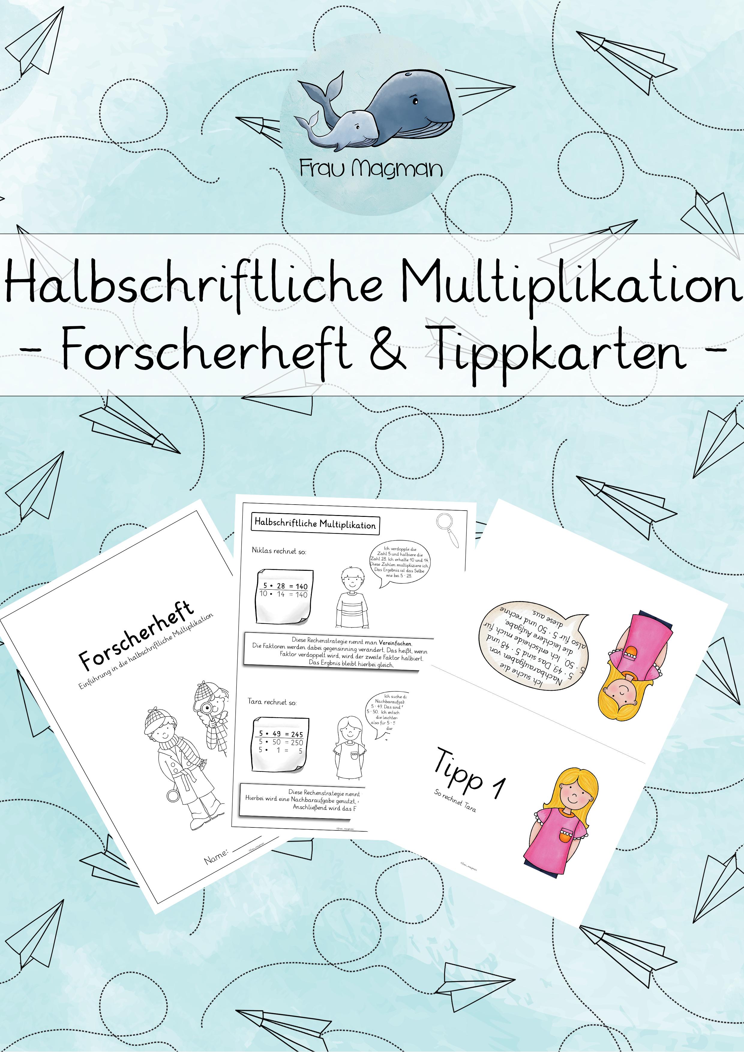 Halbschriftliche Multiplikation Forscherheft Unterrichtsmaterial Im Fach Mathematik Multiplikation Forscher Mathematik