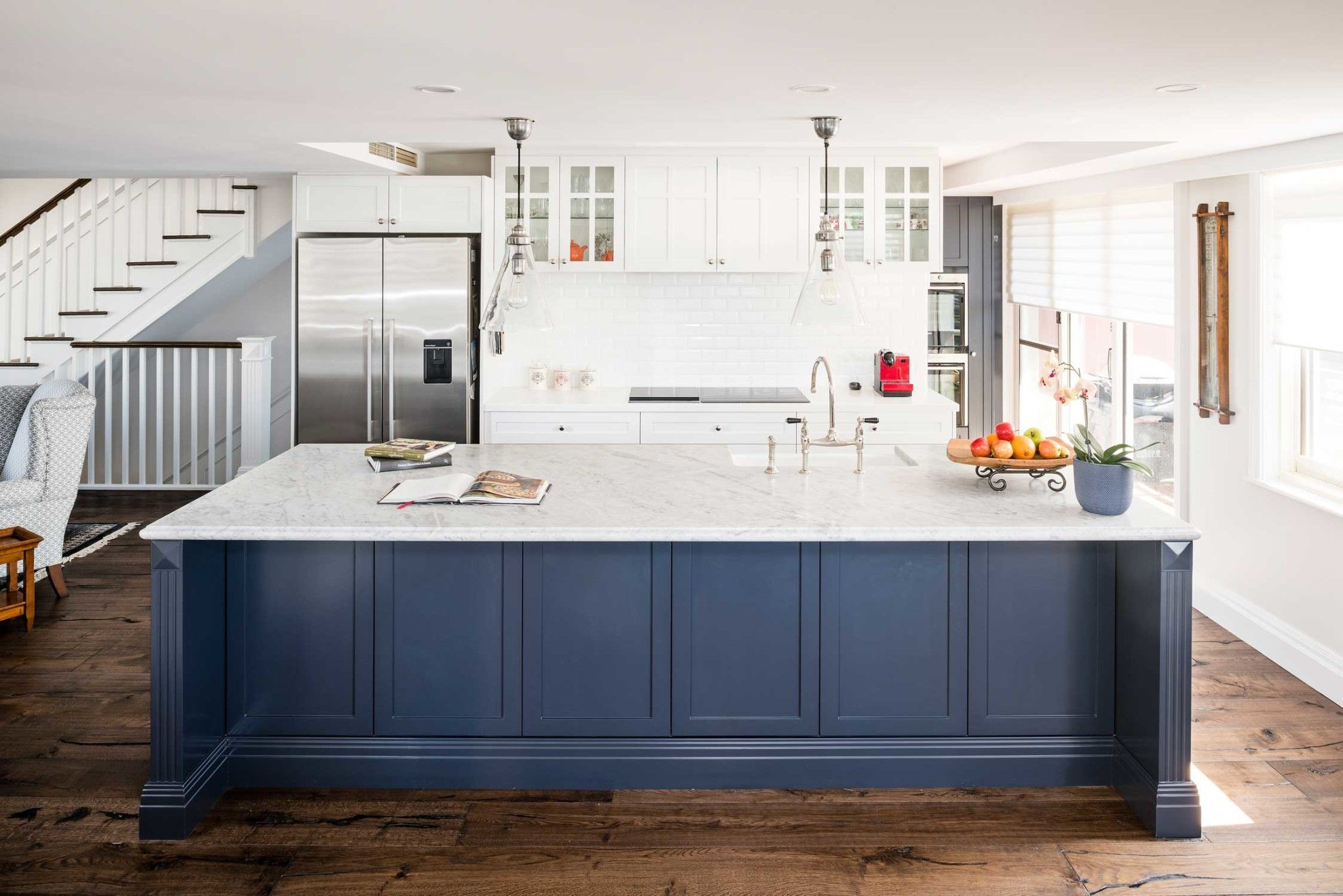Check out the story of a Hamptons style kitchen renovation in a ...