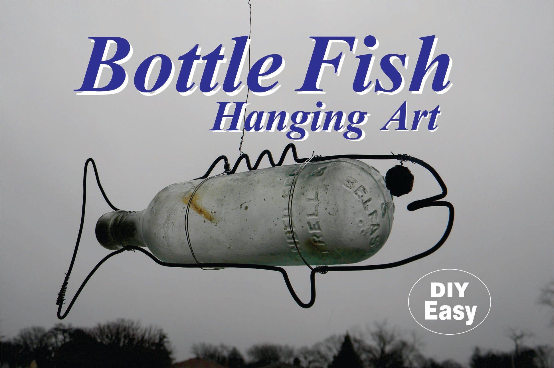 Flaschenfische basteln - Man braucht dazu schöne Flaschen, stabiler ...