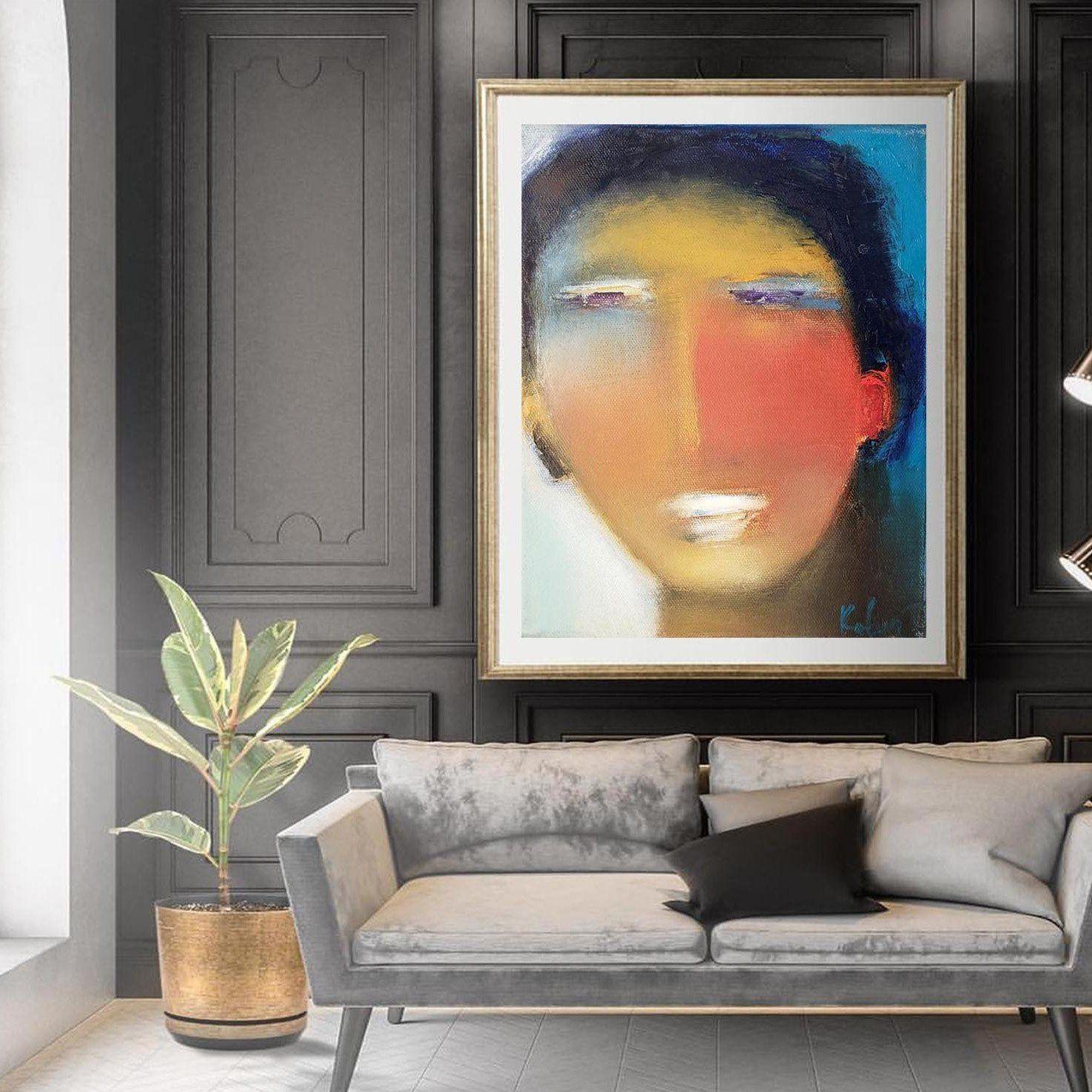 Modern Abstract Art Man Portrait Figurative Art Print Figurative Wall Art Abstract Art Painting Modern Art Abstract
