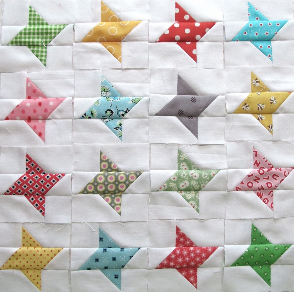Easy Scrap Quilt Block Patterns : Twinkle Twinkle Scrappy Star Twinkle twinkle, Star quilt blocks and Star quilts