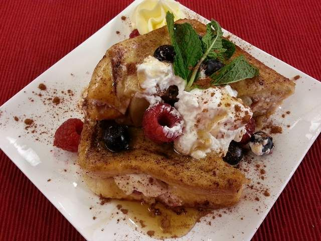 Cream Cheese & Apple Stuffed French Toast