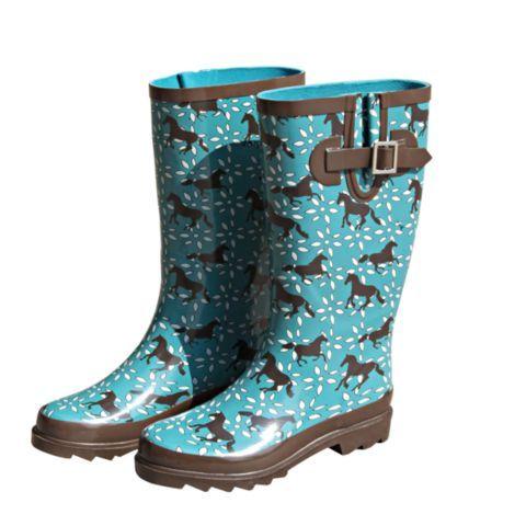 Bit \u0026 Bridle Ladies' Rubber Boots, Teal
