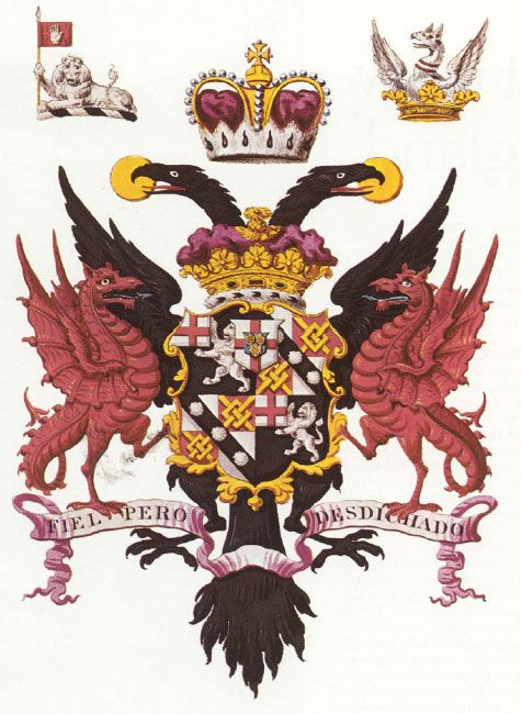 The Arms Of Sir Francis Drake Arms Holy Roman Empire Double Headed Eagle