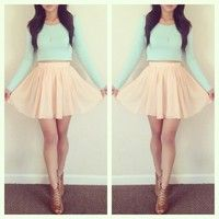 cream light pink skater skirt | My Creative Pin Life | Pinterest ...