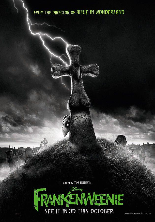 First poster for Tim Burton's Frankenweenie