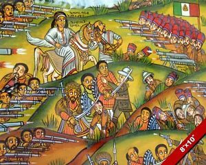 Battle Of Adowa Painting Ethiopian Empire V Italy War Real Canvas Art Print