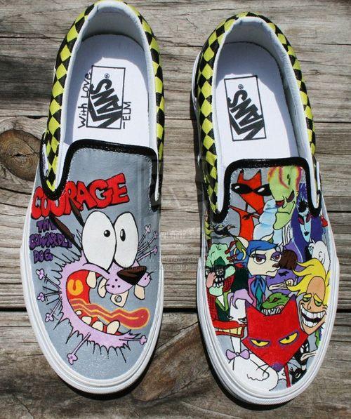 zapatos vans con dibujos
